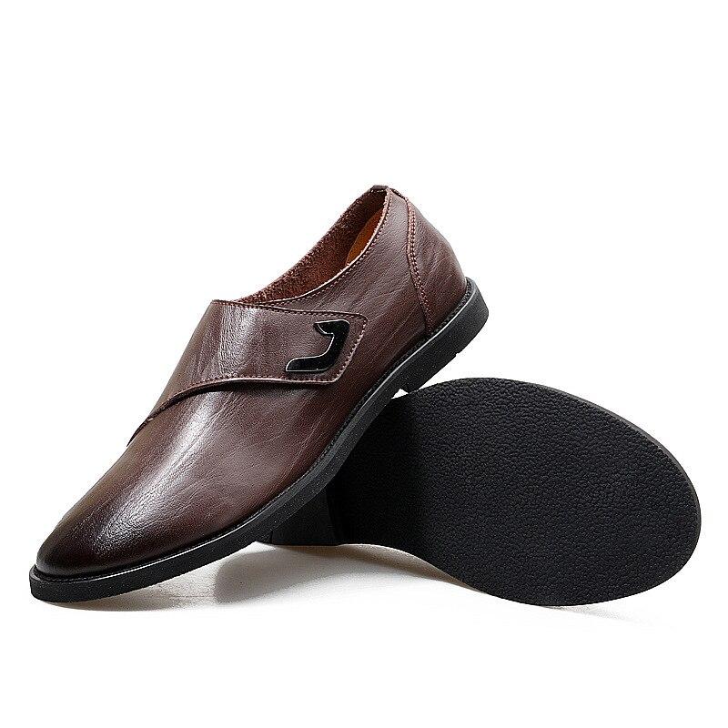 5 Brown Conduite Mode Respirant Britannique Hommes De Style Mocassins Décontractée Light En Confortable dark Cuir noir Chaussures D'affaires Brown 2 qRHAzPf6Ac