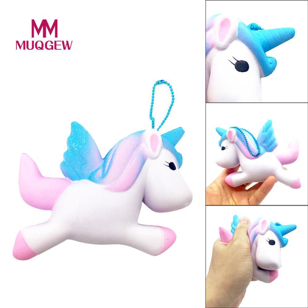 MUQGEW Brand Exquisite Fun Cute Unicorn Scented Squishy Charm Slow Rising 11cm Simulation Toy