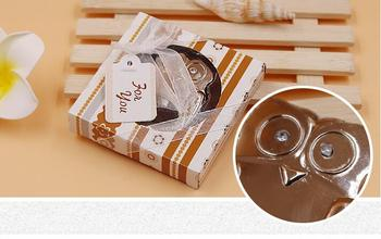 """Hot sell  60pcs/Lot """"Owl Be Seeing You"""" Stainless-Steel Owl Bottle Opener Wedding party bridal shower favors Party souvenir"""