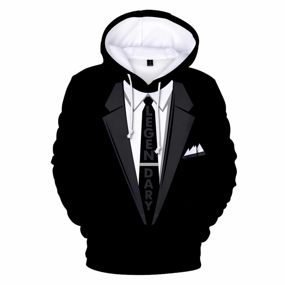 Lncdis Spring Clothes For men Casual Unsex Hoodies 3d Printed Sweatshirt  Fake Suit Mens Hoodie Pullover e5ead37fb