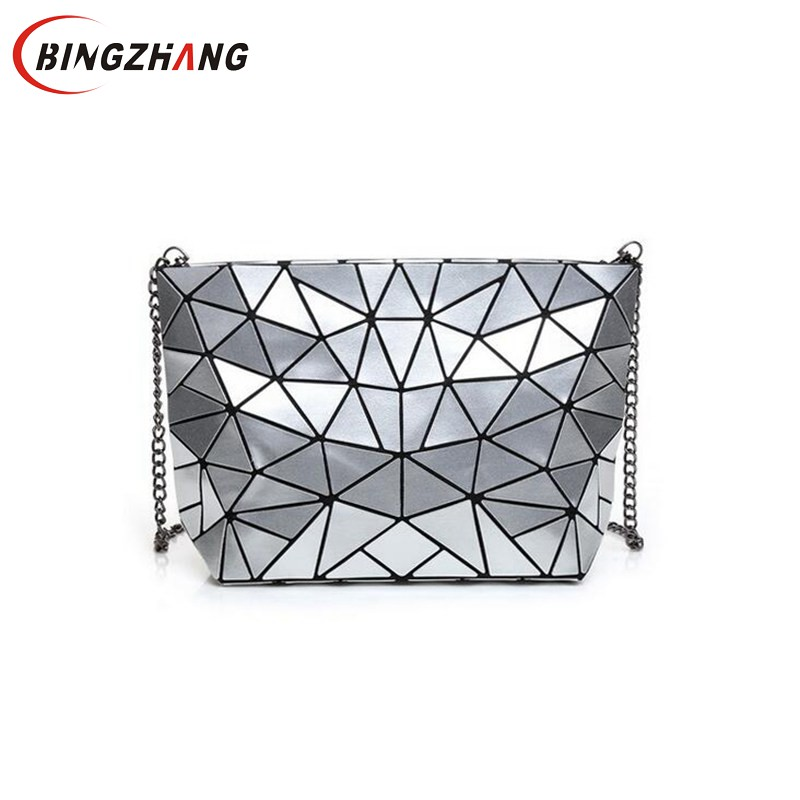Women Bao Bao Bag New Geometry Laser Handbag Fashion Chain BAOBAO Totes Clutch Shoulder Crossbody Bags For Women bolsos  L4-2974 2017 fashion tote laser bag women baobao hand bags summer geometric bao bao handbag ladies famous brands shoulder bag big