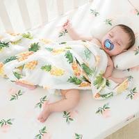Ruyi Bebe Baby Blanket Muslin Swaddle Wraps Cotton Bamboo Baby Blankets Newborn Bamboo Muslin Blankets 120x120cm
