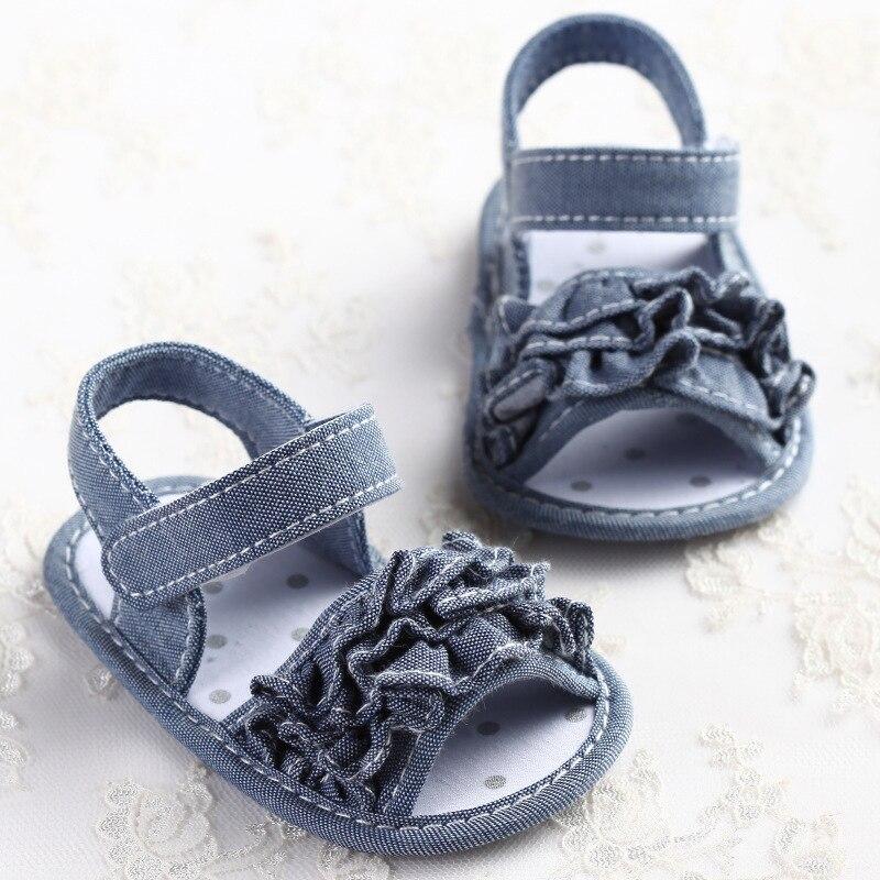 2019 Summer Baby Shoes Solid Blue Denim
