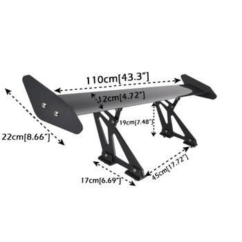 Universal Schwarz 110CM 43 Zoll Aluminium Einstellbare Licht Gewicht GT Hinten Racing Spoiler Flügel Auto Auto Spoiler Licht Gewicht Flügel