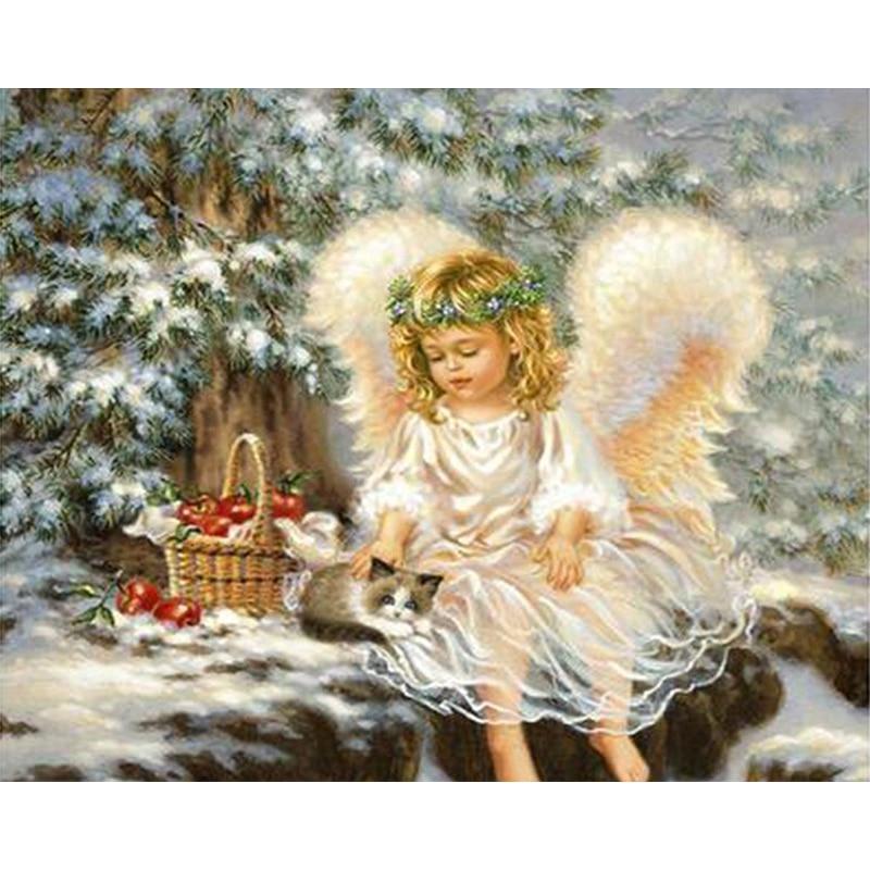 Днем учителя, ангел на открытке с рождеством