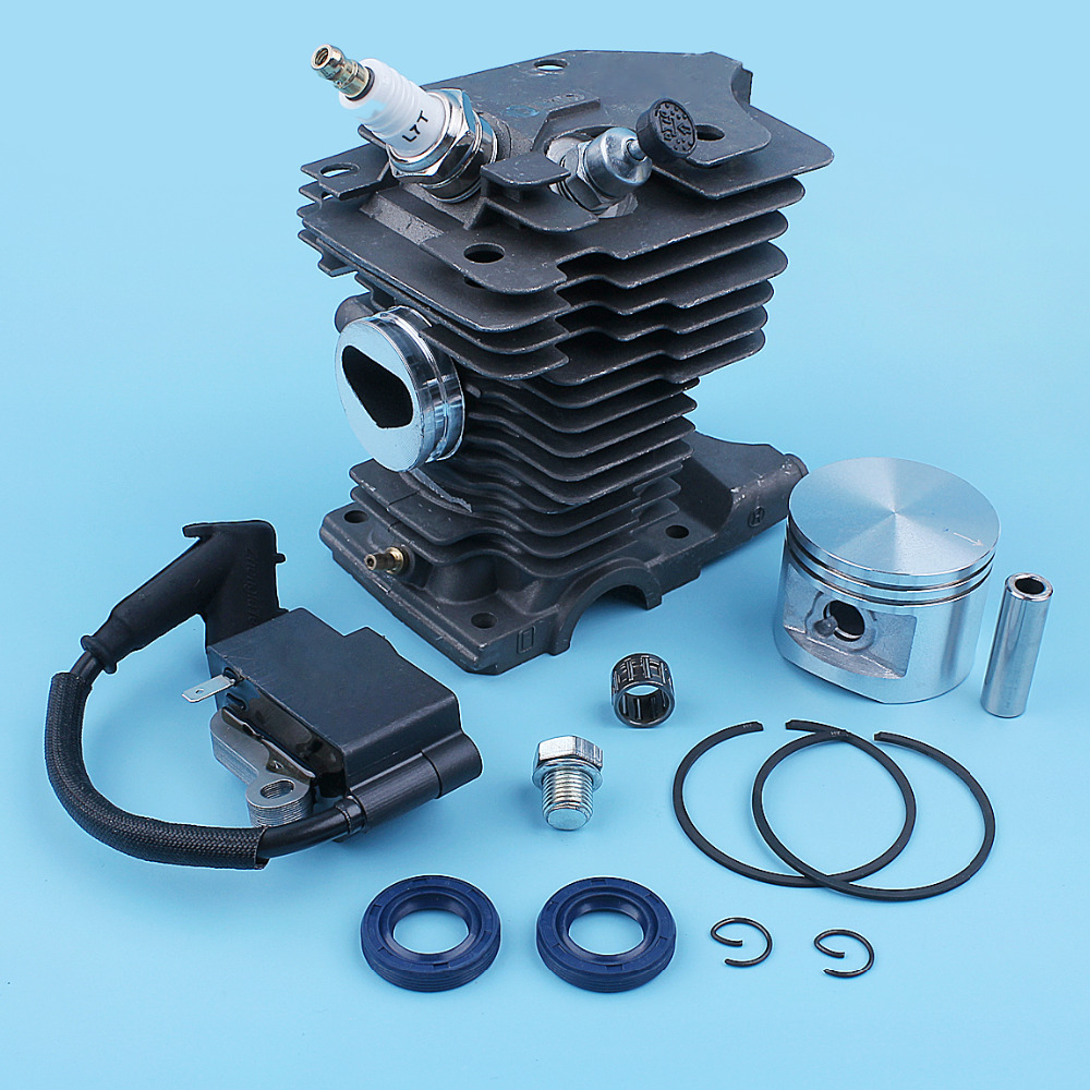 Nikasil Coated Cylinder Piston Ignition Coil Seal Bearing Kit For Stihl MS280 MS270 MS 270 280 MS280C Chainsaw 46mm Big Bore