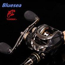 Bluesea HOT SALE Fishing Bait casting reel Water Drop reel Wheel 18+1BB 6.3:1 Metal magnetic 2 Break Systems Right Left Hand