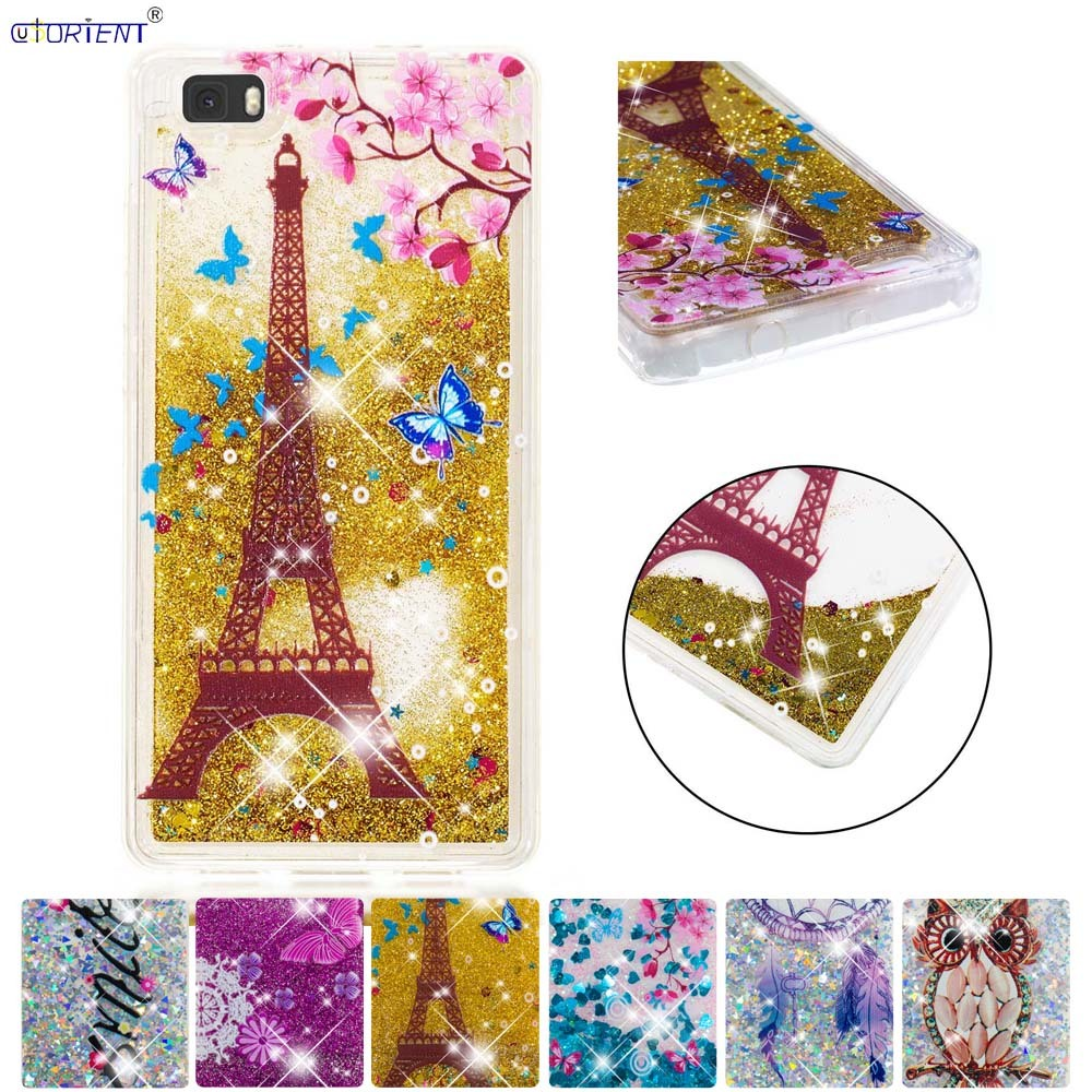 For Huawei P8 Lite Soft Glitter Dynamic Liquid Quicksand Back Case Ale-l21 Ale-l23 Ale-l02 Ale-l04 Silicone Tpu Full Cover Funda To Be Distributed All Over The World Phone Bags & Cases Cellphones & Telecommunications