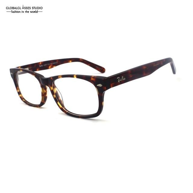 Marca Designer Big Redonda Quadro de Óculos de Acetato Demi Cor Dos Homens  Das Mulheres de 728d859520