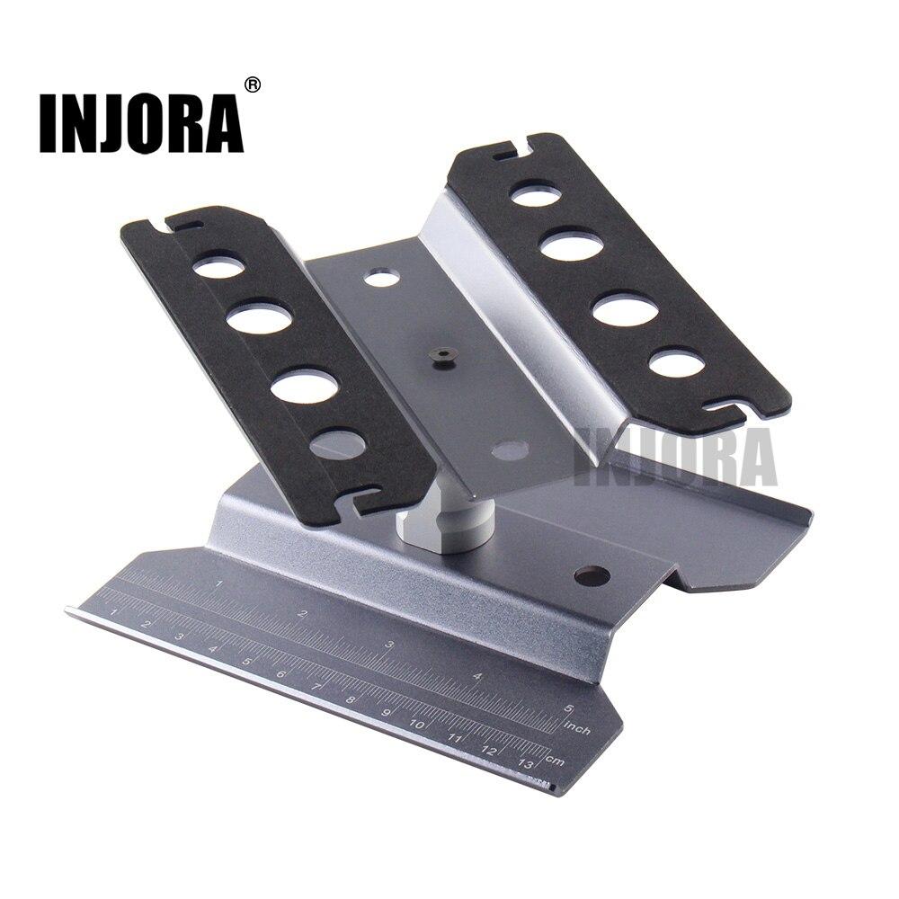 Metal Estación de Reparación soporte de trabajo plataforma de montaje para 1/10 1/8 RC coche Traxxas TRX-4 Axial SCX10 90046 D90 RC Crawler tamiya HSP