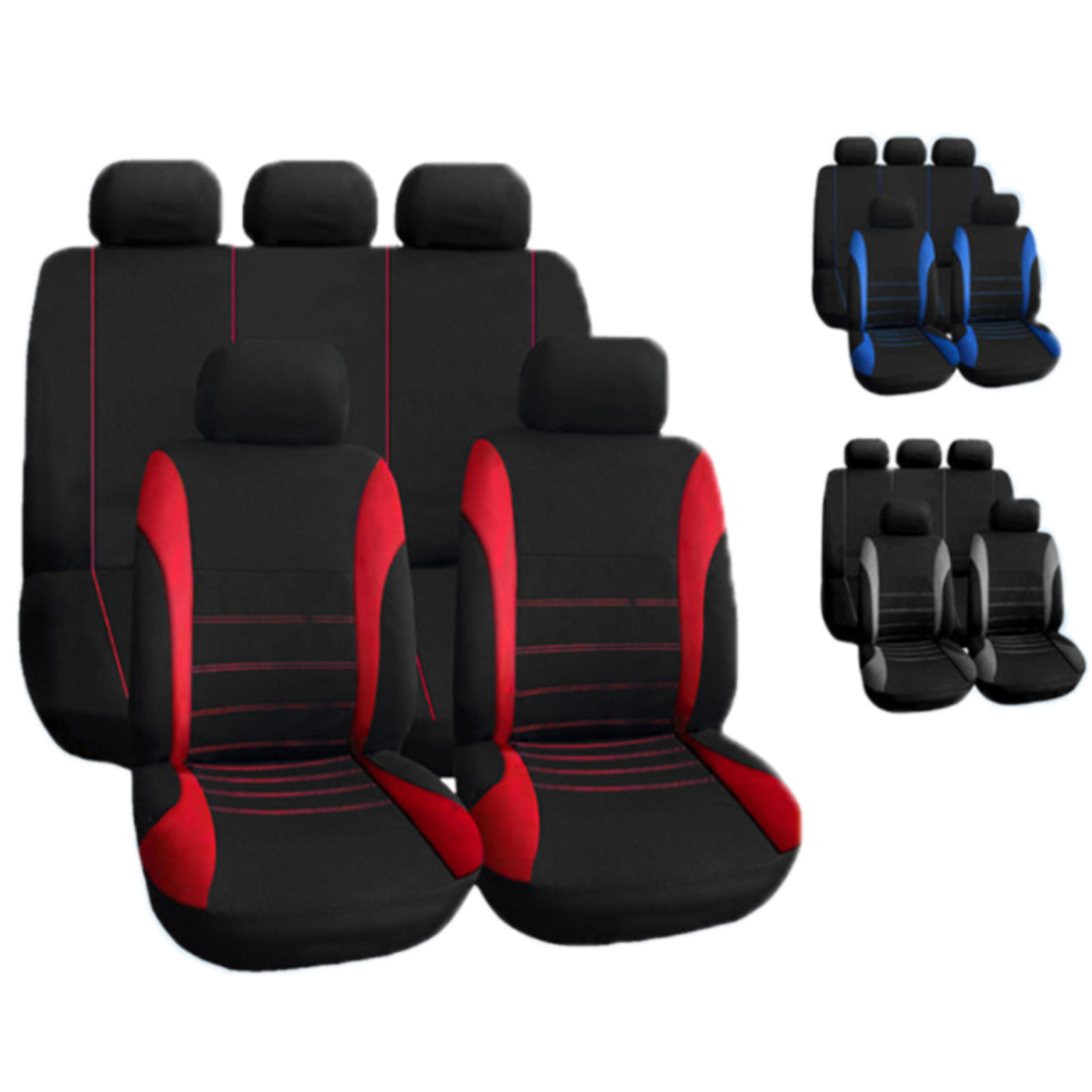 Dewtreetali 9Pcs/Set Universal Car Seat Cover Polyester Car Front Back Seat Cushion Covers Protector Car Styling Interior Access dewtreetali universal automoblies seat cover four seaons car seat protector full set car accessories car styling for vw bmw audi