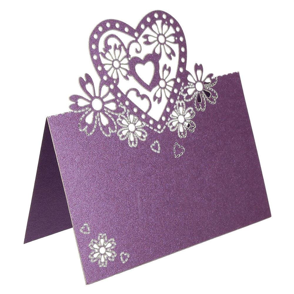 50 x place cards name card shaped heart wedding cards for