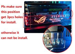 Image 5 - Custom made Acrylic Bracket use for Brace GPU card with RGB Light Size 280*45*6mm Fix Video Card Compatible AURA System 12V RGB