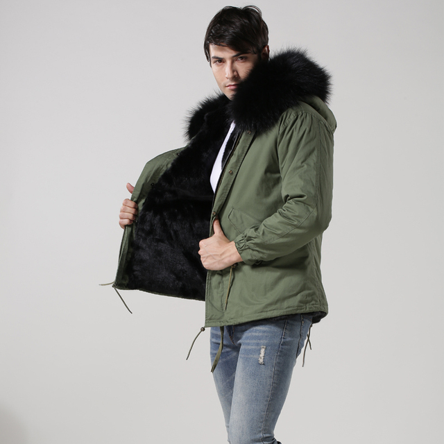 MeiFNG Brand Hot sale mens winter fur coat, handsome warm army ...