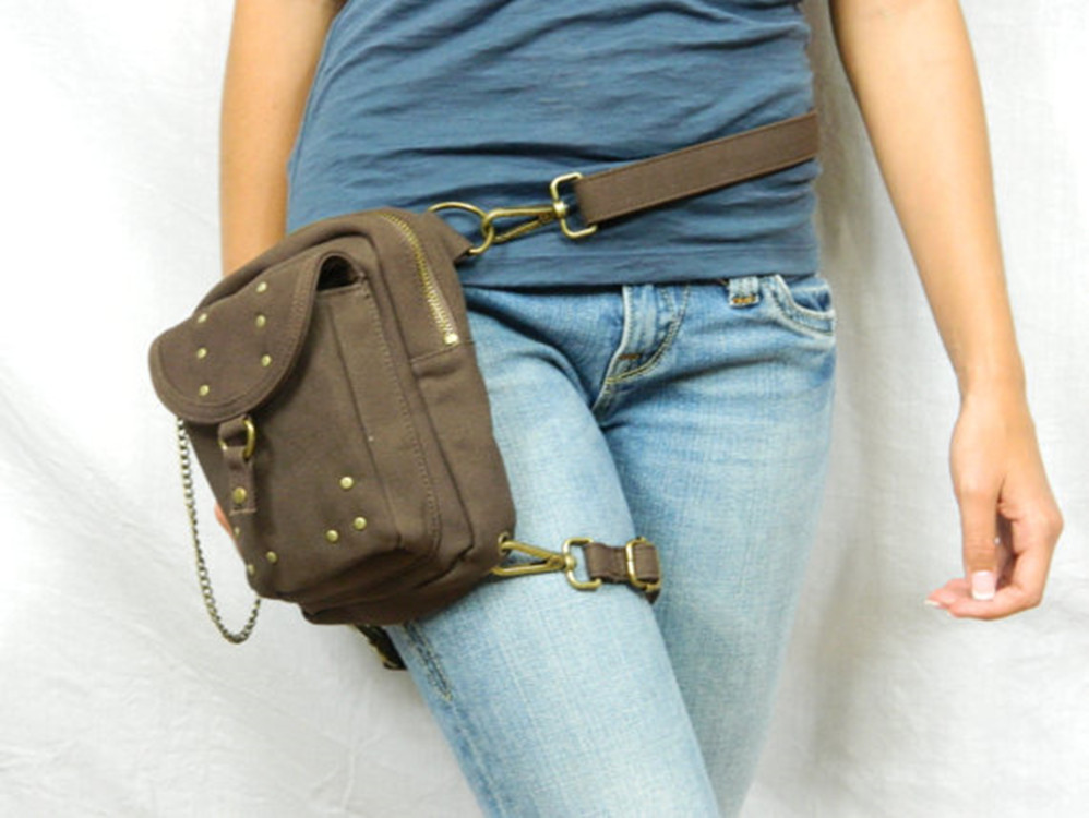 Free shipping steam punk Motor leg bag Thigh Holster protected Purse Shoulder Holster Backpack Purse canvas thigh bag women bag