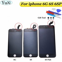 YuXi 1pcs For IPhone 6 6S 6SPlus LCD Display Digitizer Touch Screen Assembly With Home Button