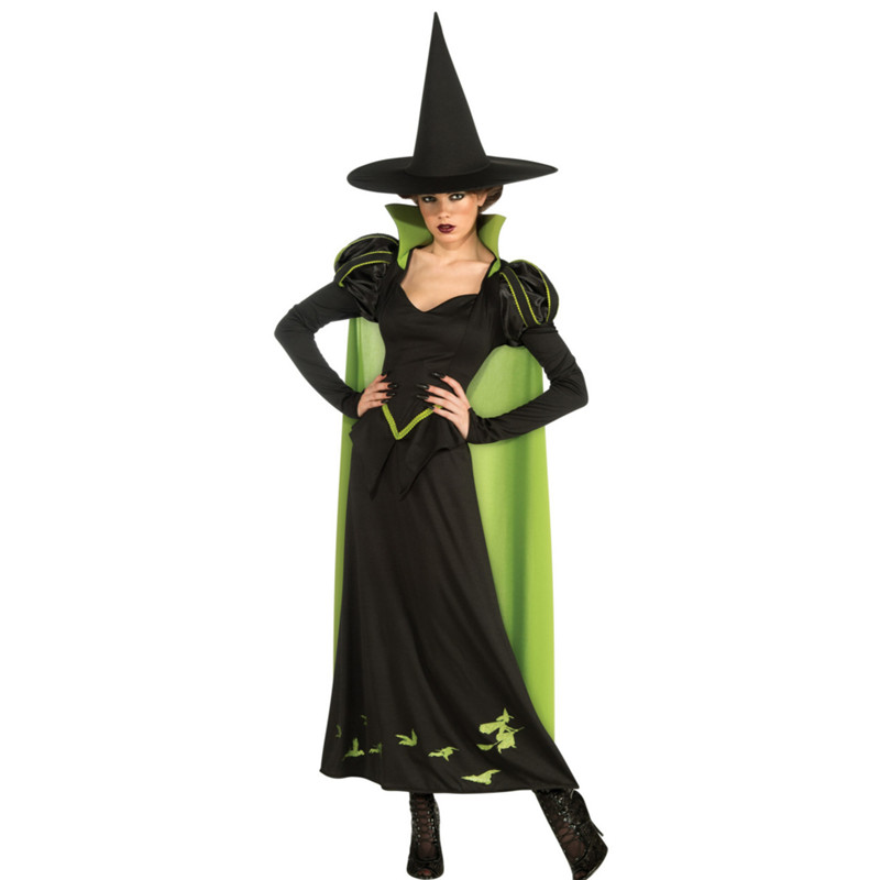 2018 new luxurious Witch Costume halloween temperament Womens Magic Moment Costume Adult demon Elf witch cosplay party dress