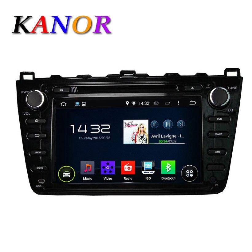 KANOR 1024*600 Android 5.1 автомобиль dvd gps Для Mazda 6 Ruiyi Ultra 2008 2009 2010 2011 2012 Авторадио Мультимедиа Аудио стерео