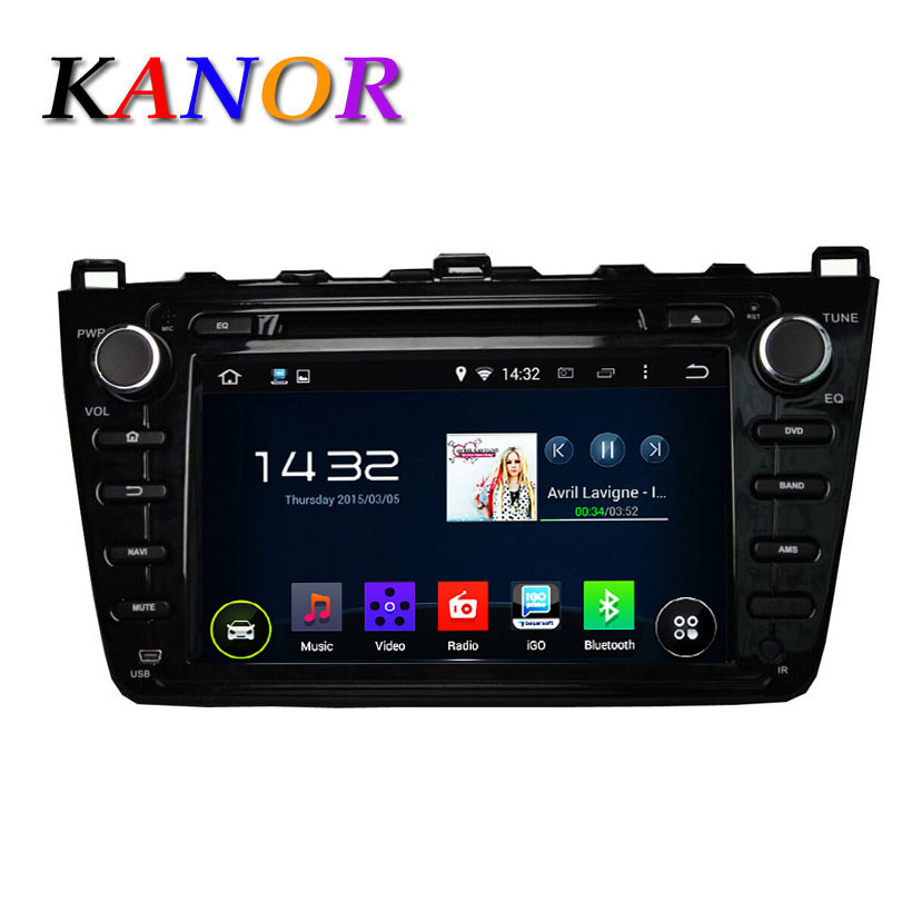 KANOR 1024 600 Android 5 1 car dvd gps For Mazda 6 Ruiyi Ultra 2008 2009