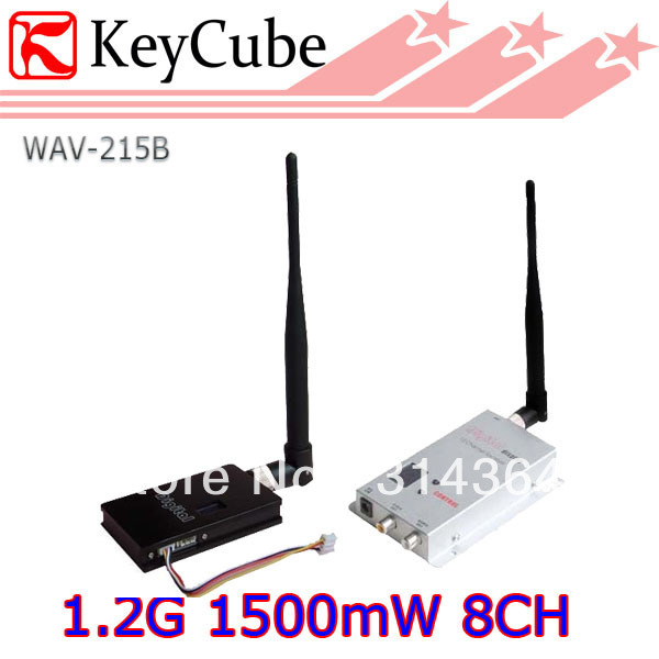 NEW 1.5W 1.2GHz 1500mW Wireless AV Transmitter and 8 Channels Wireless AV Receiver, Audio/Video Output For FPV tlplv3 replacement projector lamp with housing for toshiba tlp s10u tlp s10 tlp s10d