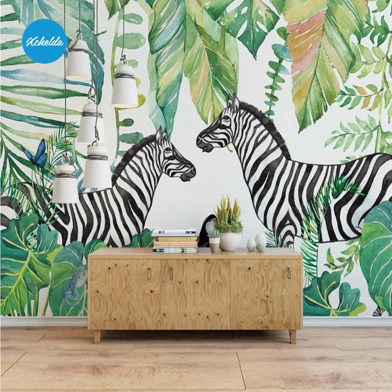 Xchelda personalizzato 3d carta da parati design zebra for Parati da cucina