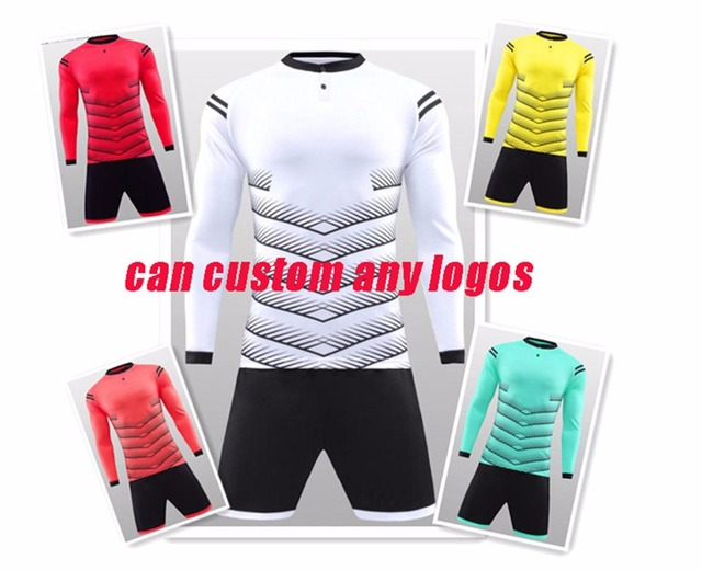 Men long sleeve soccer sets men sports training sets male football jerseys  and shorts adult running 05b262b70