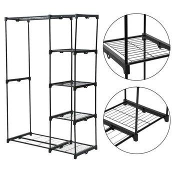 4 capas de Casa armario de ropa armario de almacenamiento multifuncional  estante armario con colgante de armarios de muebles para el hogar 4e03cc4c1335