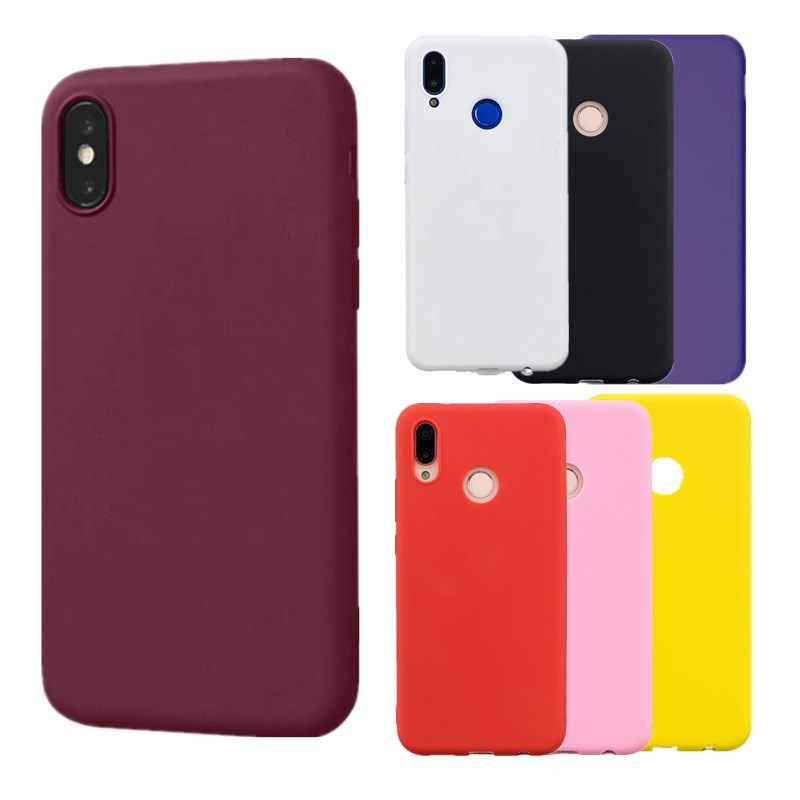Candy Matte Case for Huawei P Smart 2018 Cover For Coque Huawei P30 Lite P20 Lite Pro P Smart Y5 Y6 Mate 10 Pro Lite Cases