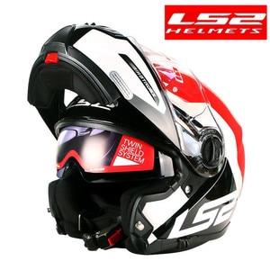 Image 3 - LS2 FF325 стробоскоп С Откидывающейся Крышкой Moto rcycle шлем для мужчин модульный гоночный шлем capacete ls2 шлем casco moto cascos para moto DOT casque moto