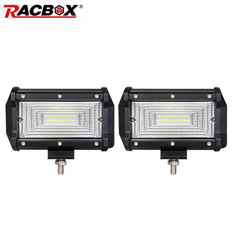 4 5 7 18W 36W 60W 72W LED 12V 24V Bar Offroad WorkLight Spotlight Lamp For 4x4 Rractor Truck Jeep Wrangler Bars Fog Light