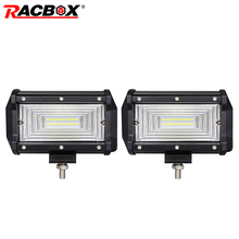 4 5 7 18W 36W 60W 72W LED 12V 24V Bar Offroad WorkLight Spotlight Lamp For 4x4 Rractor Truck Jeep Wrangler Bars Fog Light