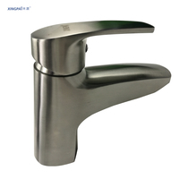 XINGPAI singola maniglia del singolo foro calda e fredda miscelatore lavello rubinetto facile pulizia ad alta precisione colata di acciaio tap XP66033