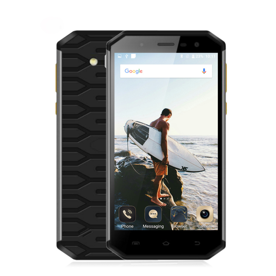 Chine S50 Étanche Antichoc SmartPhone Robuste Mobile Téléphone Android 6.0 ultra mince Mince MTK6753 Octa Core 3 GB RAM 13MP GPS