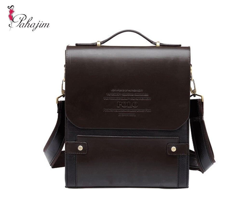 Free Shipping Men Bags Designer Men s Bag Fashion PU Leather Bags Briefcase  Business Shoulder Men Messenger ee85dabb24b39