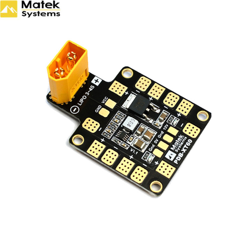 1pcs 3A PDB Distribution Module XT60 With Double BEC 5V/12V For FPV Drone