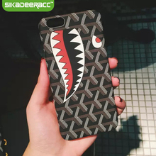 ФОТО sc95 pc hard shark phone covers for iphone 5 5s 6 6s 7 plus se mobile phone shockproof protective cellphone back cases shell