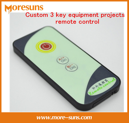 Free Ship 50pcs Custom 3 Key Equipment Projects Remote Control/8m Launch With C Reference Code Small Infrared Remote Control