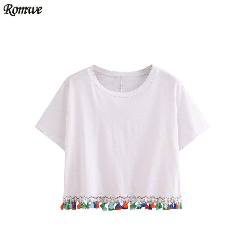 Romwe Summer Fashion T Shirts For Women Cotton Top 2016