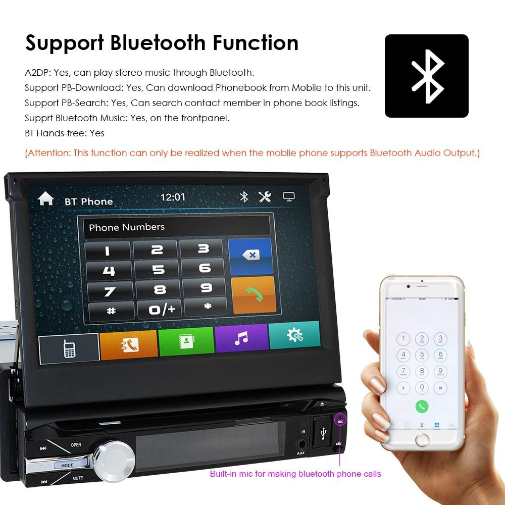 Caméra gratuite un 1 din radio voiture lecteur dvd gps navigateur magnétophone autoradio lecteur de cassette autoradio gps multimédia dab bt - 4