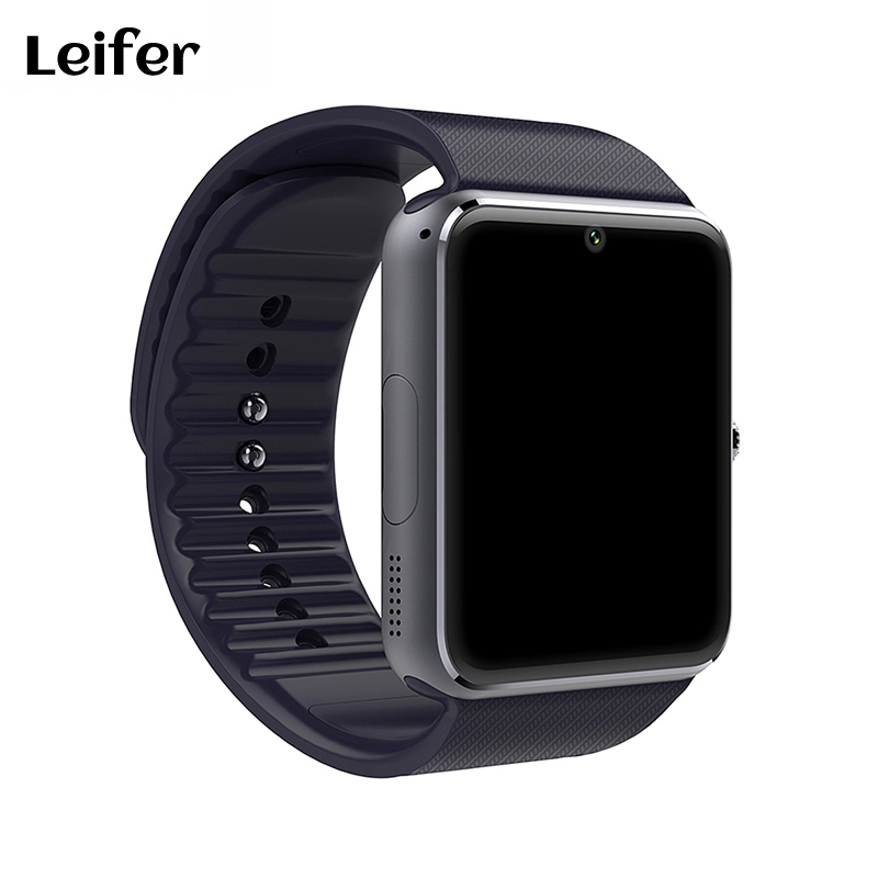 Leifer Smart Watch GT08 Support Sim Card Bluetooth Connectivity for Apple Iphone Android Phone Smartwatch PK DZ09 U8 2016 bluetooth smart watch gt08 for