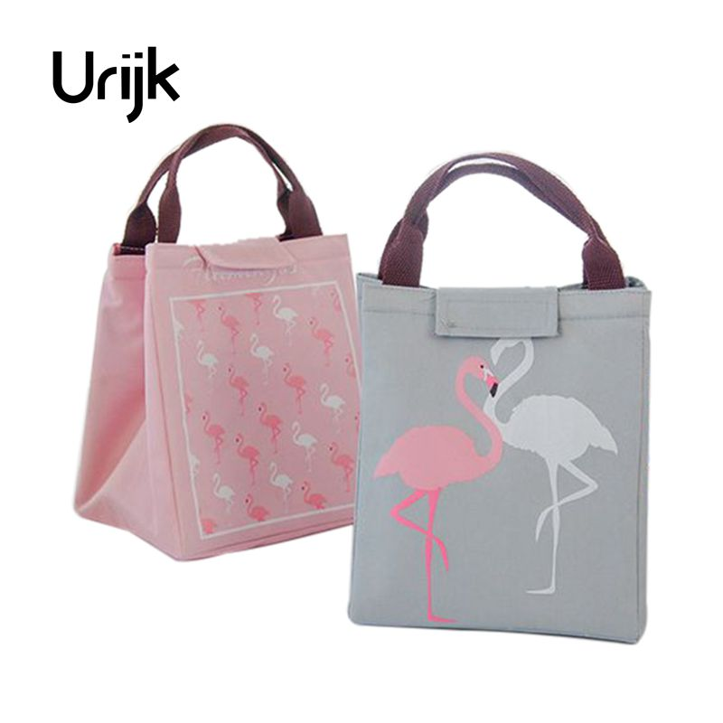 Urijk Flamingo Waterproof Food Storage font b Bag b font Picnic Dinner Cold Insulation font b
