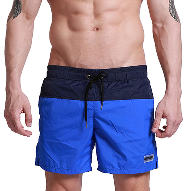 Quick Dry Bermudas Board Shorts Men Swimwear Swim Short Patchwork Thin Style Man Beach Surfing GYM Sport Shorts with Mesh Lining