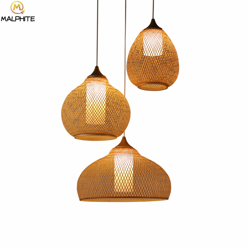 Chinese Bamboo And Wood Pendant Lights For Living Room Bedroom Pendant Lamp NEW  Restaurant Hanging Decor Lighting Luminaires