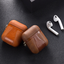 For Airpods Accessories Case For Airpods Leather Cover For Apple Earphone Earpods Protective Skin For Airpods Cases Shell