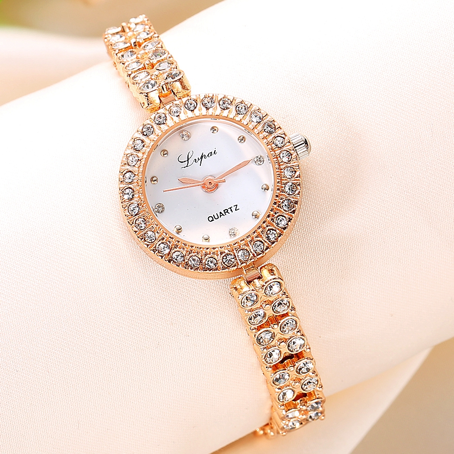 Fashion Women Dress Watches Luxury Crystal Bracelet Quartz Wristwatch Lvpai Brand Watches For Women Rose Gold Casual Watch 2017 lvpai flower rose gold bracelet watches women fashion casual quartz watch rhinestone wristwatches girls bangle women watch