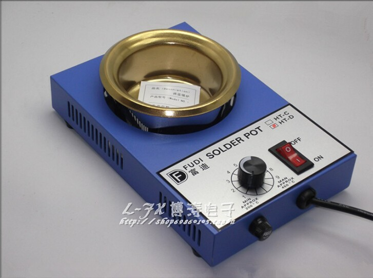 цена на 300W solder pot small mini tin melting furnace thermoregulation stainless steel 100mm 200 ~ 450 centigrade