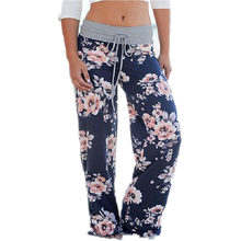 Heyouthoney 3 colors 2017 women floral print wide leg pants loose ladies casual ankle length Plus Size trousers pantalones mujer