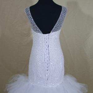 Image 4 - 2020 New African Style Amazing Heavy Handwork Beads Stunning Ruffles Mermaid Wedding Dress