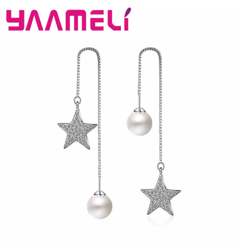 Silver FAVOT New Fashion Girl Earrings Creative Cat Ears Shape Pearl Earrings Temperament Banquet Jewelry Accessories