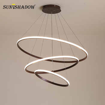 Outer Shine Modern LED Chandelier White&Black&Coffee Lamps Led Ceiling Chandeliers Lighting For Living room Kitchen Dining room - DISCOUNT ITEM  51% OFF All Category
